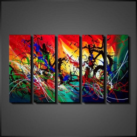 Schilderijenshop online grote abstracte