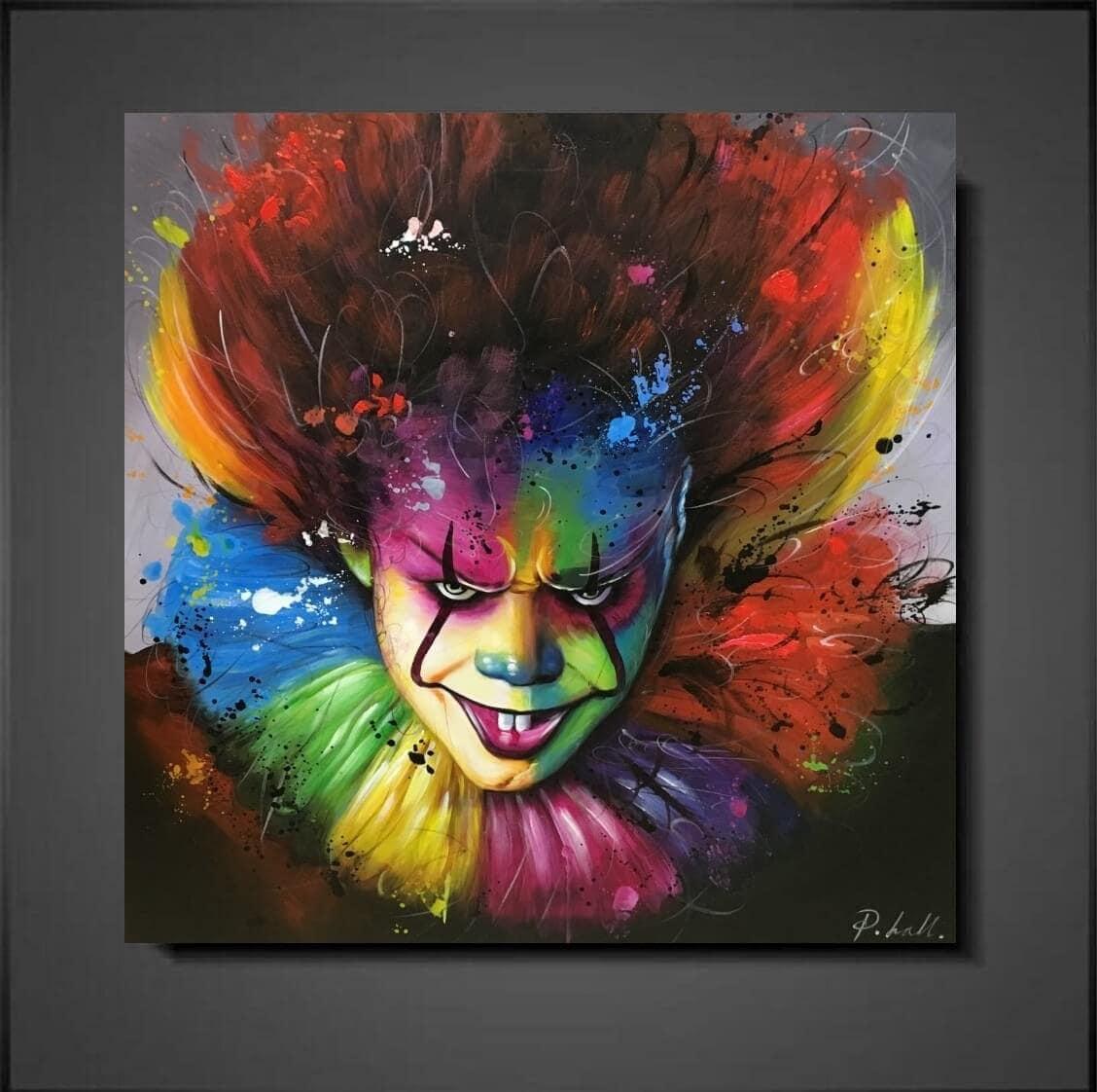 Moderne schilderijen the clown mynewart for Moderne schilderijen